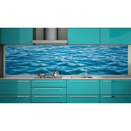 Принт стъкло за кухня модел 19127 вълни