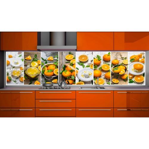 Принт стъкло за кухня модел 19152 мандарини