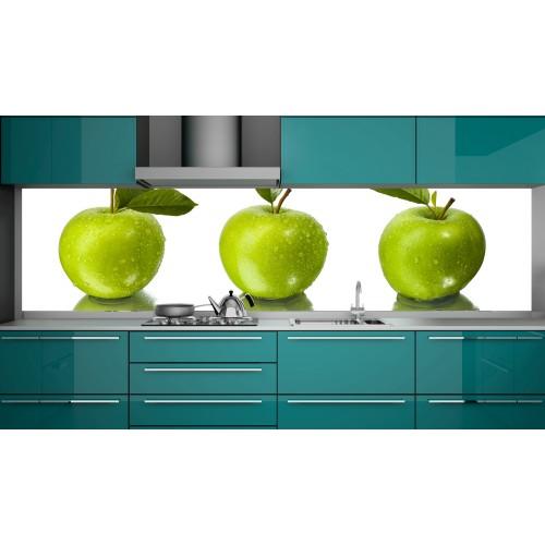 Принт стъкло за кухня модел 19246 ябълки