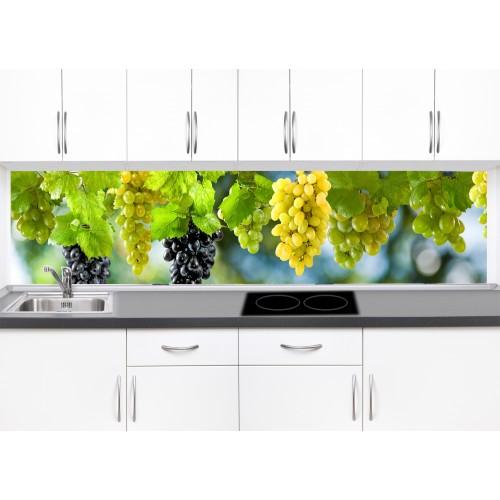Принт стъкло за кухня модел 19270 грозде вода