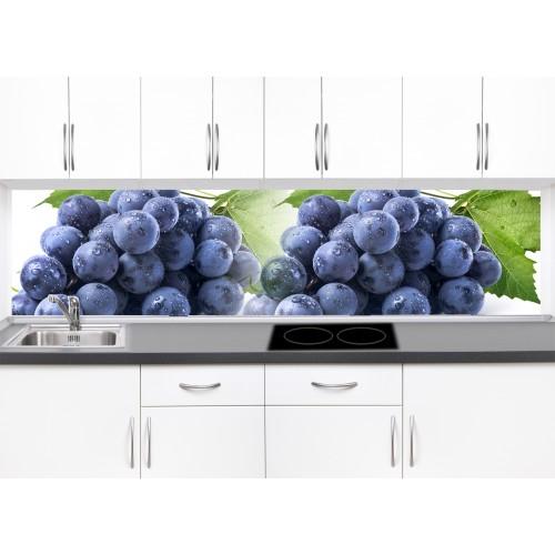 Принт стъкло за кухня модел 19272 грозде вода