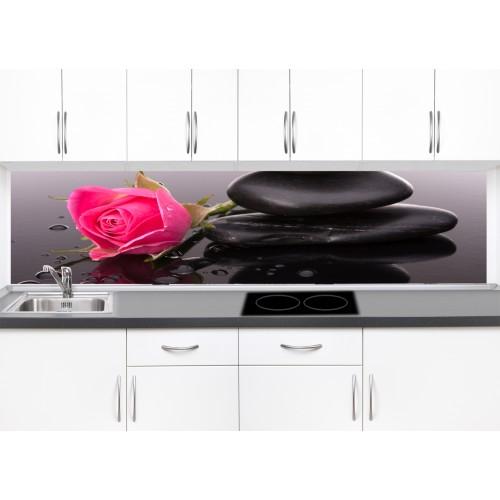 Принт стъкло за кухня модел 19295 роза