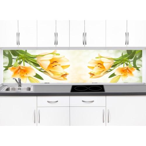 Принт стъкло за кухня модел 19305 цветя