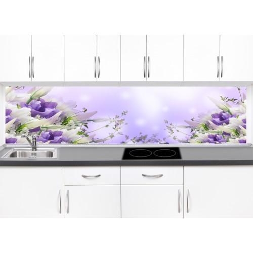 Принт стъкло за кухня модел 19306 цветя