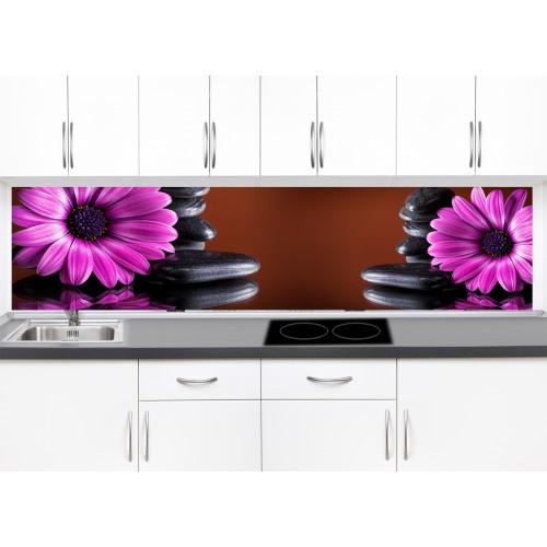 Принт стъкло за кухня модел 19309 цветя