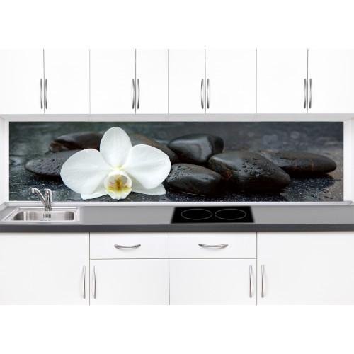 Принт стъкло за кухня модел 19368 орхидея