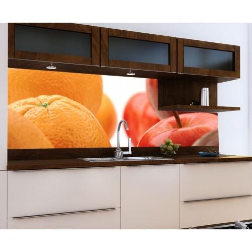 Принт стъкло за кухня модел 19006 портокал и ябълка