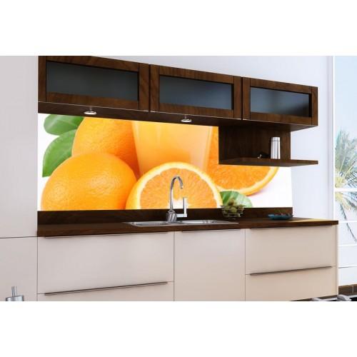 Принт стъкло за кухня модел 19009 портокали