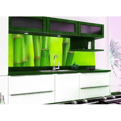 Принт стъкло за кухня модел 19011 бамбук
