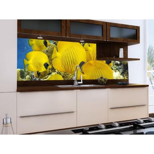 Принт стъкло за кухня модел 19013 Подводен Свят