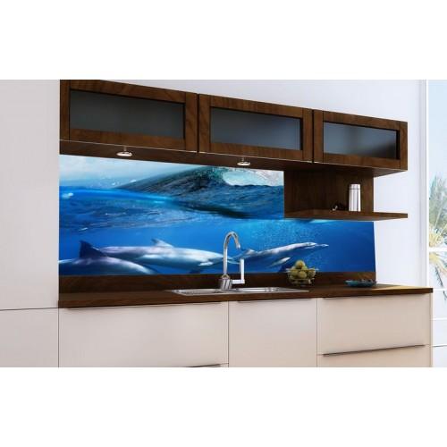 Принт стъкло за кухня модел 19014 Морски Свят