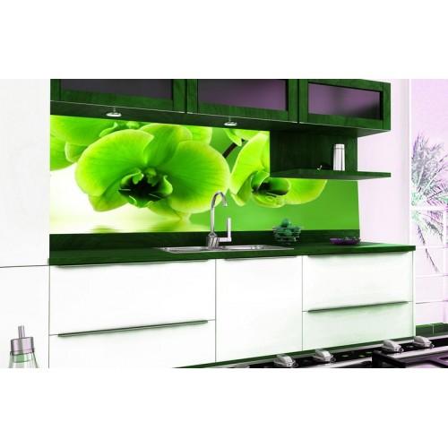 Принт стъкло за кухня модел 19015 Орхидея