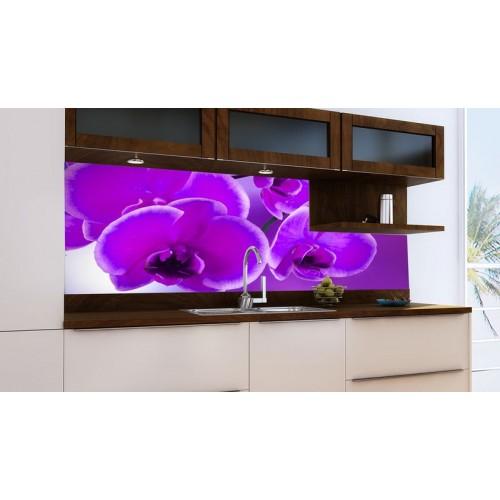 Принт стъкло за кухня модел 19016 Орхидея в Лилаво