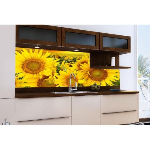 Принт стъкло за кухня модел 19020 Слънчогледи