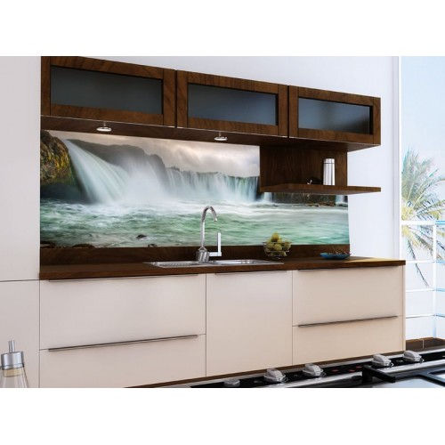 Принт стъкло за кухня модел 19023 Водопад
