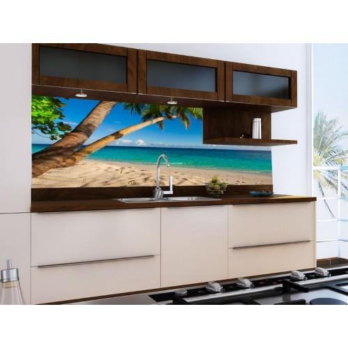 Принт стъкло за кухня модел 19027 Плаж