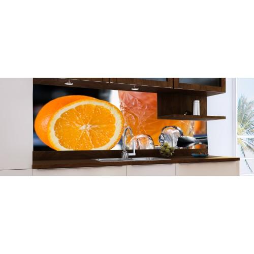 Принт стъкло за кухня модел 19045 портокал