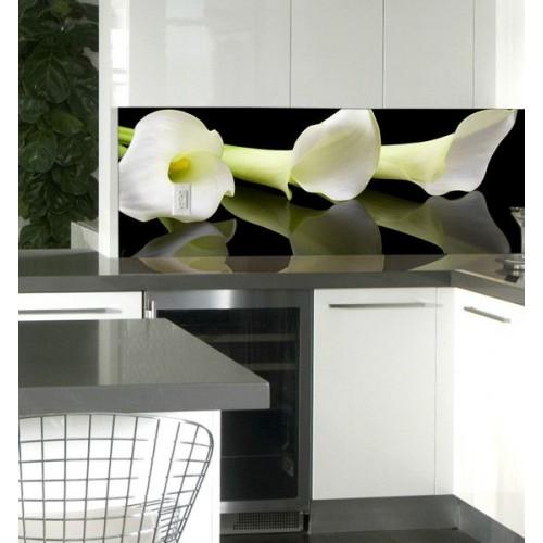 Принт стъкло за кухня модел 19004 орхидея