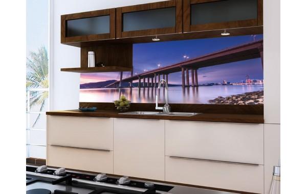 Принт стъкло за кухня модел 19028 Мост