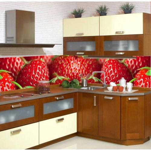 Принт стъкло за кухня  модел 19001 с ягоди