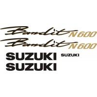 Стикери за мотор SUZUKI GSF 600N Bandit комплект надписи модел 26314