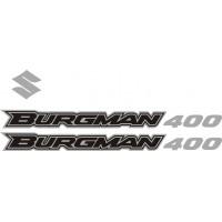 Стикери за SUZUKI Burgman 400 2006 комплект в сребърно и черно модел 26341