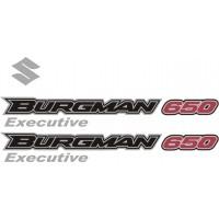 Стикери за SUZUKI Burgman 650 Executive 2006 комплект в сребърно и черно и червено модел 26343