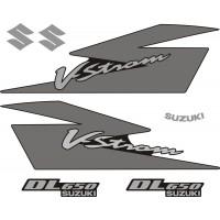 Стикери за SUZUKI DL 650 V-Strom 2005 комплект в сребърно и черно модел 26355