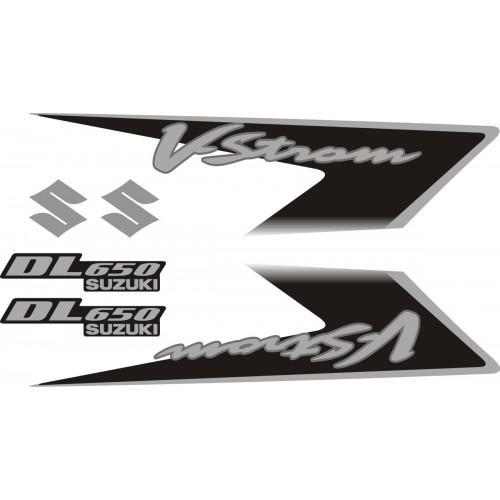 Стикери за SUZUKI DL 650 V-Strom 2007 комплект в сребърно и черно модел 26358