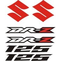 Стикери за SUZUKI DR-Z 125 комплект в бяло , черно и червено модел 26370