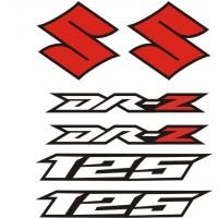 Стикери за SUZUKI DR-Z 125 комплект в бяло , черно и червено модел 26371