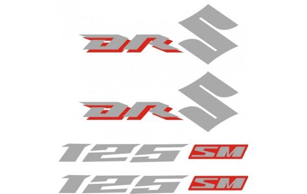 Стикери за SUZUKI DR 125 комплект в сребърно и червено 2008 модел 26375