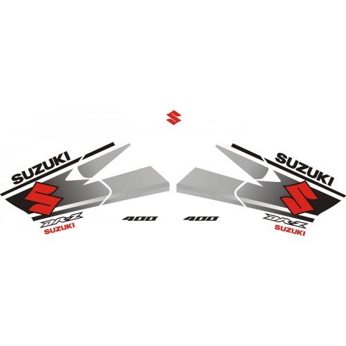 Стикери за SUZUKI DR-Z 400 комплект в бяло , черно и червено модел 26387