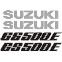 Стикери за SUZUKI GS 500 E комплект в сребърно и черно модел 26420