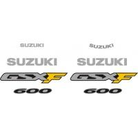 Стикери за SUZUKI GSX 600 F 2001 комплект в сребърно  модел 26444
