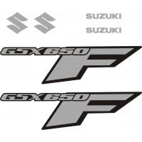 Стикери за SUZUKI GSX 650 F комплект в сребърно модел 26450