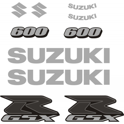 Стикери за SUZUKI GSX-R 600  комплект в сребърно 08-2010 модел 26463