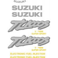Стикери за SUZUKI TL 1000 s комплект в сребърно модел 26530