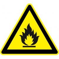 Табела или стикер Внимание Лесно Запалими Вещества модел 24314