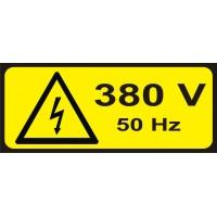 Табела или стикер Внимание 380 V модел 24316