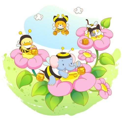 Стикери за детска стая слонче за мед модел 20104