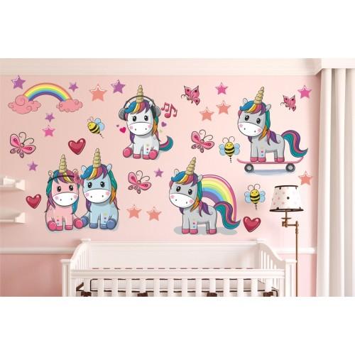 Стикери за детска стая ЕДНОРОГ модел 20165