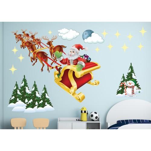 Стикери за детска стая  дядо Коледа модел 20353