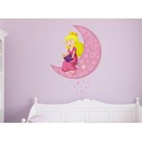Стикери за детска стая ПРИНЦЕСА и луната модел 20372