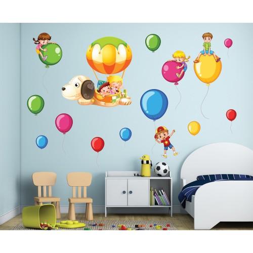 Стикери за детска стая деца и балони модел 20381
