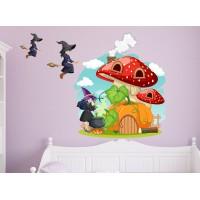 Стикери за стена на детска стая къща на магьоснички модел 20382