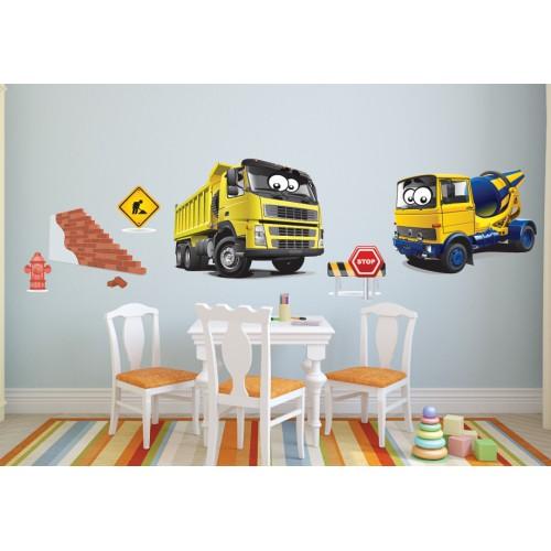 Стикери за детска стая Строителна Техника  Модел 20616