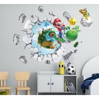 Стикери за детска стая 3D Супер Марио модел 20690