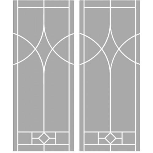 Матирано стъкло стикер Модел 18034