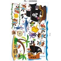 Стикери за детска стая  пирати модел 20043